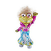 Mrs. Disco Frog Hanging Glass Bauble Christmas Tree Decoration