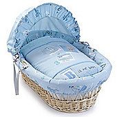 Clair de Lune Ahoy Wicker Moses Basket (Natural)