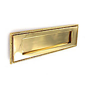 Securit S2130 Georgian Letter Plate Brass 250mm