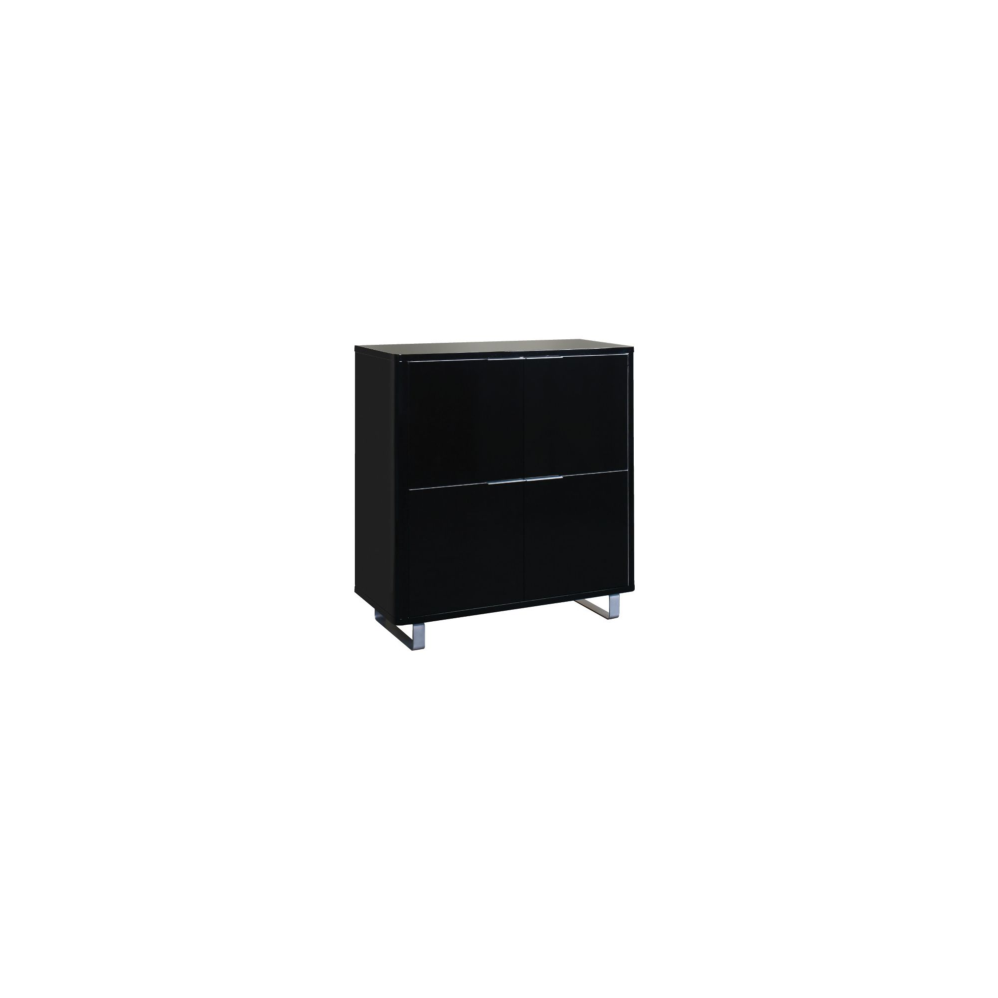 Home Zone Remedy Occasional Four Door Storage Unit - Black at Tesco Direct
