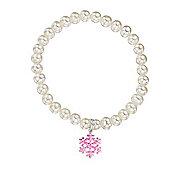 Jo for Girls Pearl Pink Frozen Snowflake Bracelet
