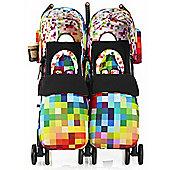 Cosatto Supa Dupa Twin Stroller (Pixelate)