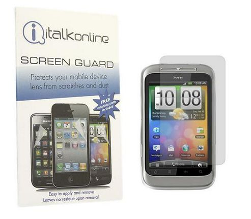 iTALKonline S-Protect Anti Glare LCD Screen Protector and Cleaning Cloth - For HTC WildFire S