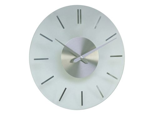 Acctim Visaya Glass Wall Clock Silver