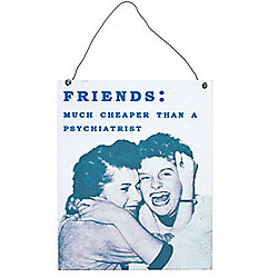 Friends Metal Wall Sign