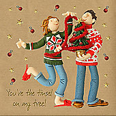 Holy Mackerel Greeting Card - Christmas Card - you're the Tinsel On My Tree