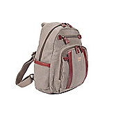 TRP0255 Troop London Classic Small Canvas Backpack Brown