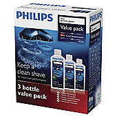 Philips HQ203 Jet Clean Solution - 3 x 300ml