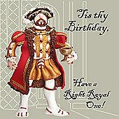 Holy Mackerel Henry VIII Right Royal birthday Greetings Card