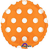 Foil Balloons 18' MagiColor Dots Orange (Packaged) (each)