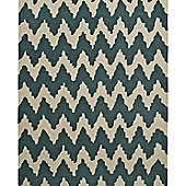 Think Rugs Hong Kong Teal/Beige Tufted Rug - 120 cm x 170 cm (3 ft 9 in x 5 ft 7 in)