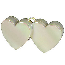 Iridescent Double Heart Balloon Weight
