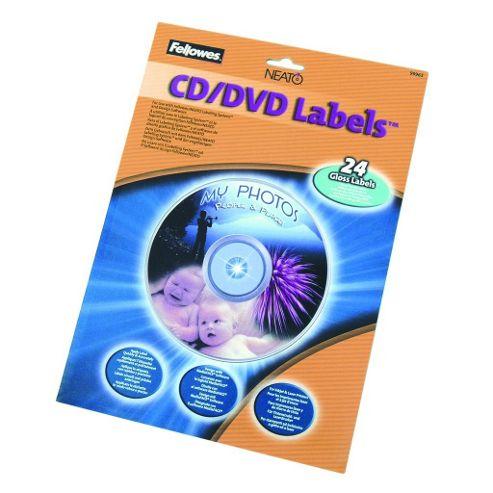 Fellowes Gloss CD/DVD Labels 24pk