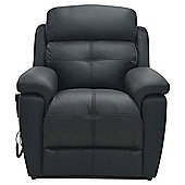 Leather Power Lift Recliner Chair Black