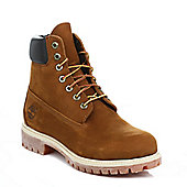 Timberland Mens Brown 6inch PremiumNubuckLeather Boots - Brown