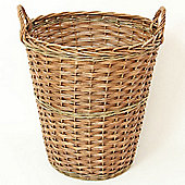 Tall Willow Log Basket with Handles