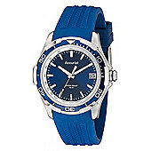 Accurist Gents Blue Rubber Strap Watch MS860NN