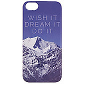 "Tortoiseâ""¢ Hard Protective Case, iPhone 5/5S, Mountain Design with Wish It, Dream It, Do It Motto, Blue/Grey."