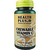 Health Plus Chewable Vitamin C 500MgVegan 60 Veg Tablets