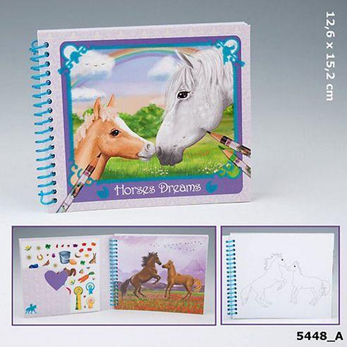 Depesche - Horses Dreams Pocket Colouring Book