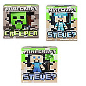 Minecraft Creeper, Steve & Diamond Steve 6 Inch Vinyl Minifigures
