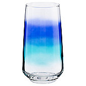 Tesco Blue Spray Hi-Ball Glass