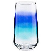 Blue Spray Highball Glass