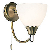 Endon Lighting Arced Wall Light in Antique