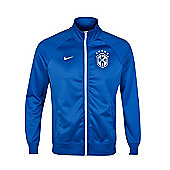 2014-15 Brazil Nike Core Trainer Jacket (Blue) - Blue