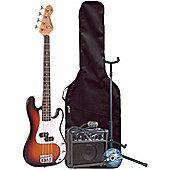 Encore E20 7/8 Sunburst Kids Bass Pack