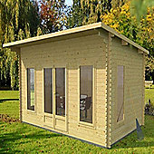 Mercia Garden Products Contemporary Log Cabin with Double Door - 233 cm H x 460 cm W x 640 cm D