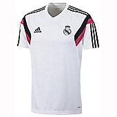 2014-15 Real Madrid Adidas Training Shirt (White) - White