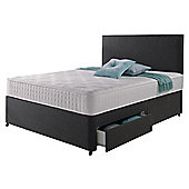 Rest Assured Memory 2 Drawer Super King Divan and Headboard Charcoal