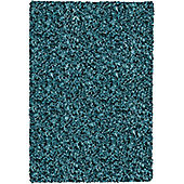 Mastercraft Rugs Twilight Teal Shaggy Rug - Runner 65cm x 130cm (2 ft 1 in x 4 ft 3 in)