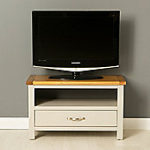Mullion Painted 75cm TV Stand - Stone Grey