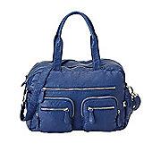 OiOi Faux Lizard Carry All Bag (Blue Indigo)