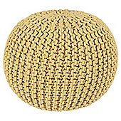 Kaikoo Chunky Knitted Pouffe, Yellow