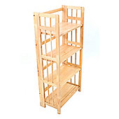 Premier Housewares Four Tier Folding Shelf Unit