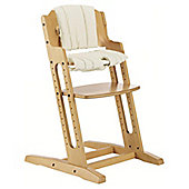 BabyDan DanChair High Chair Nature With Beige Cushion