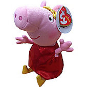 "TY Beanie Peppa Pig 6"" Plush Golden Boots"