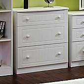 Welcome Furniture Warwick 3 Drawer Deep Chest - White