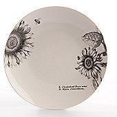 David Mason Design RHS Sunflower 27cm Dinner Plate in White