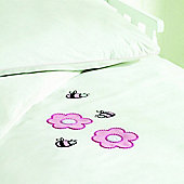 Saplings Cot Bed Quilt & Pillowcase Set - Pinkie Bee