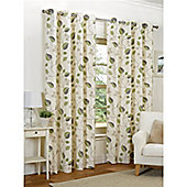 Hamilton McBride April Eyelet Lined Curtains - Green