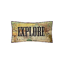 Linea Antique Map Cushion - Multi