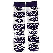 Womens Knitted Insulating Traditional Loungewear Winter Camping Long Socks - Purple