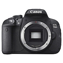 "Canon EOS 700D Digital SLR, Black, 18MP, 3"" LCD Screen, Body Only"