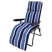 Culcita Padded Reclining Garden Chair, Blue