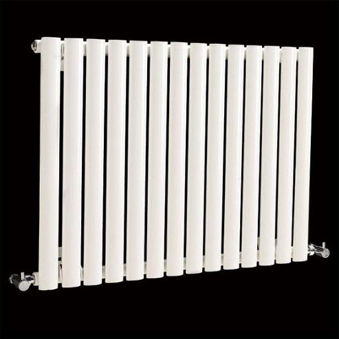 Hudson Reed Revive Small Single Panel Horizontal Designer Radiator White 633mm High x 826mm Wide