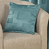 Milano Teal Self Piped Cushion Case 43x43cm